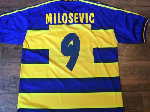 2001 2002 Parma Milosevic Player Issue Football Shirt Adults XL